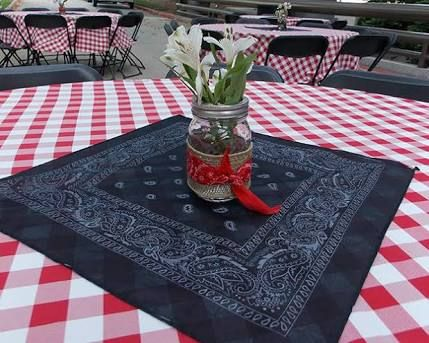 Simple But Beautiful Table Decoration At A Western Themed Party