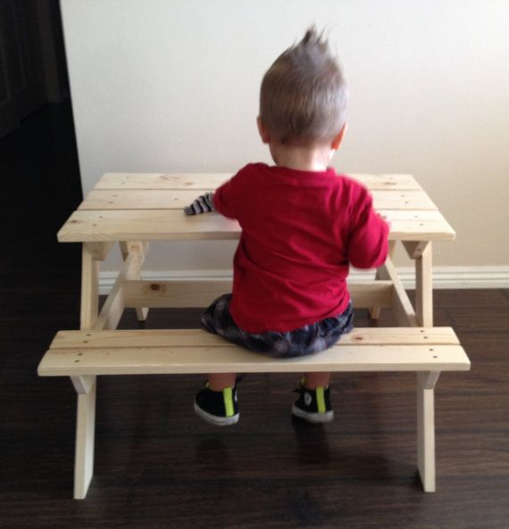 Custom Handmade Kids Wooden Picnic Table by JMWoodworkandDecor