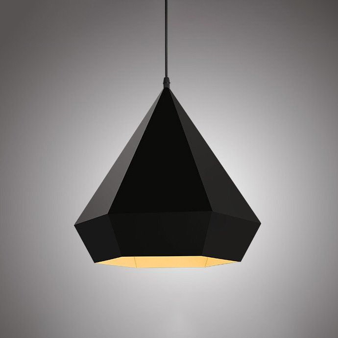 Black Diamond Geometric Pendant Light #60W #black #cage