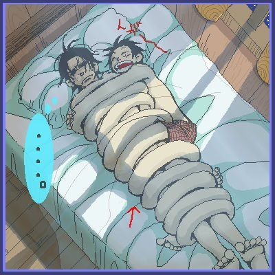 ace luffy |nude Ace: boxer Luffy, si tu a froid tu te colle a moi d'accord ?