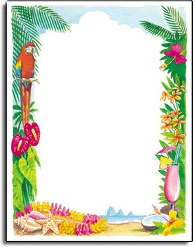 Tropical Luau Border Google Search Flores Hawaianas