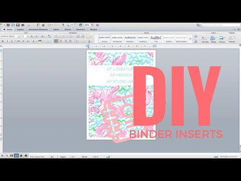 DIY Binder Inserts | KATSDESK - YouTube