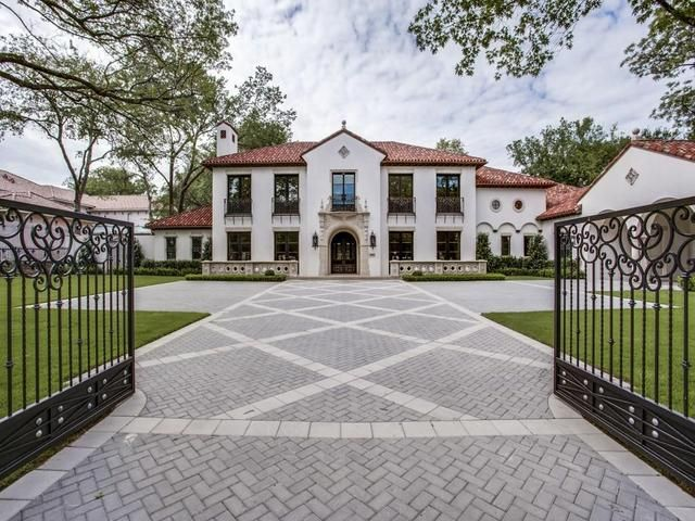 SPECTACULAR Custom California Mediterranean Spanish Revival in Old Preston Hollow! Situated on over an acre with 6 Bedrooms, Study, 8.3 Baths, 4 Living, 5 FP, Heated & Cooled, 600 sqft Cabana, Pool & Spa, Elevator, 5 Car Garage, 2 Car Porte Cochere, Tinted Plaster Walls, Clay tile roof, Limestone, Wood & Marble Flooring, Unique Lighting & Hardware. Architectural Design by Lloyd Lumpkins Architect. See Floor plan, Amenities & Features, Etc. in Media.