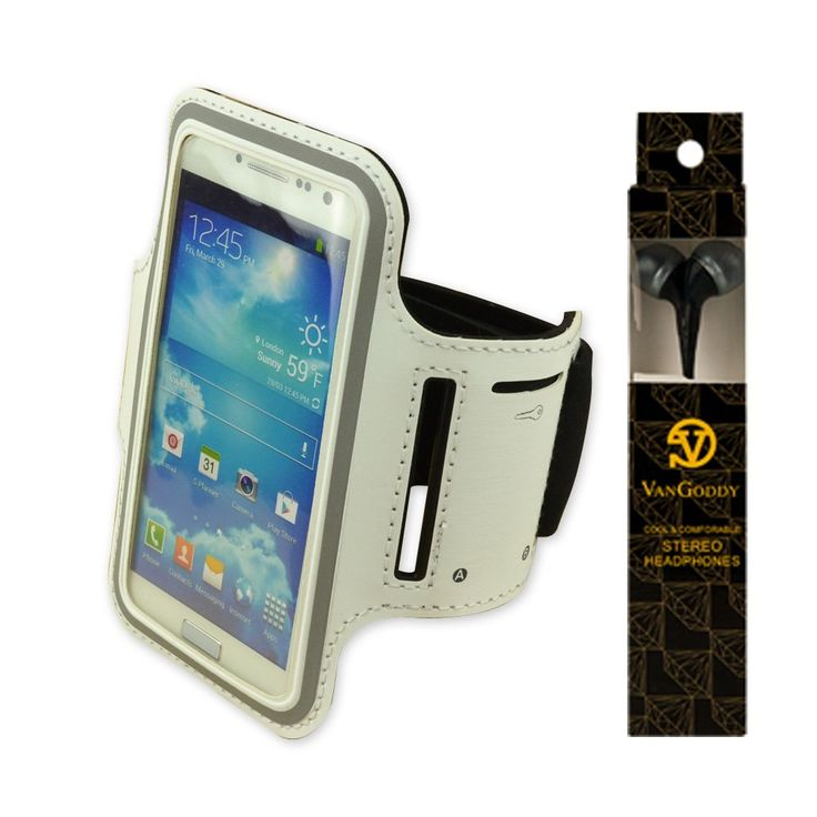 Adjustable Neoprene Workout Running Armband for LG Nexus 4 , Nexus 5 , LG Optimus L9 P760 (White) + VanGoddy Headphone with MIC, Black. Compatible with Compatible with Most Apple iphone,Blackberry, HTC, Nokia, LG ,Samsung cellphone / smartphone and so on. Neoprene Armband Case protects your Samsung Galaxy S3 i9300 without hassle. Full screen protector allows full touch screen functionality. Built in a small pocket, you can put in the earphone cord, coins or keys etc. This lightweight…