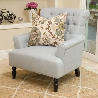 Bernstein Fabric Club Chair   Christopher Knight Home  Light Grey. 155 best Chairs images on Pinterest   Armchairs  Living room ideas