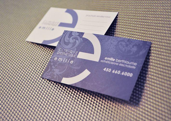 Clinique d'esthétique Emilie,  business card