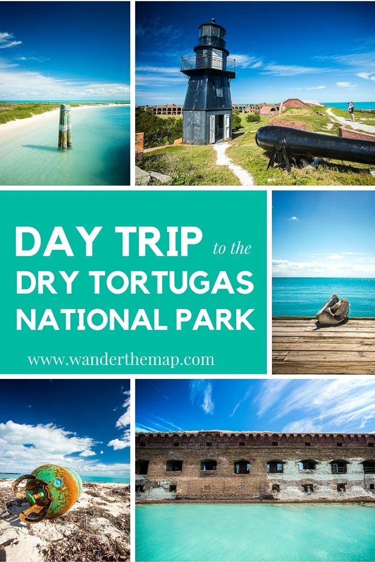 Jump on a catamaran and take a day trip to the Dry Tortugas National Park in the Florida Keys. Read more at http://wanderthemap.com/2016/03/day-trip-to-the-dry-tortugas/