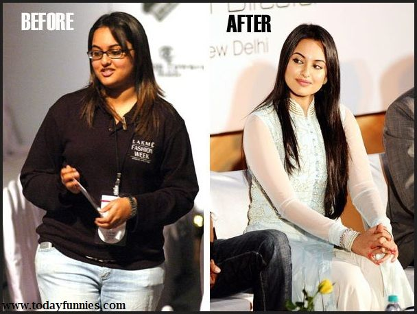 This Is Very Funny Picture Of Bollywood Female Celebrity Sonakshi Sinha. In This Funny Picture You Can See Sonakshi Journey From Fat To Fit. There Are Two Picture Of Sonakshi…1st Is Before And 2nd Is After. Picture 1 Is Before Entering In Bollywood And Picture 2 Is After Entering In Bollywood. You Can Feel The Difference That Sonakshi Sinha Lose Her Weight After Entering In Indian Film Industry.