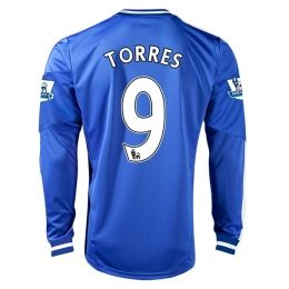 13-14 Chelsea #9 TORRES Home Long Sleeve Jersey Shirt