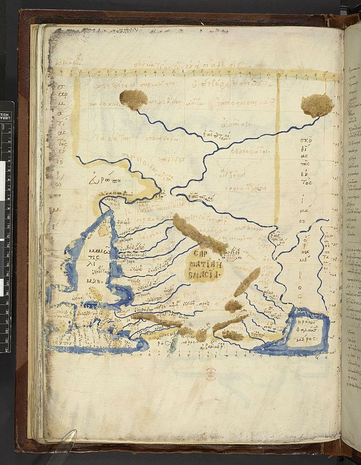 Map after Ptolemyu0027s Geographia Burney MS