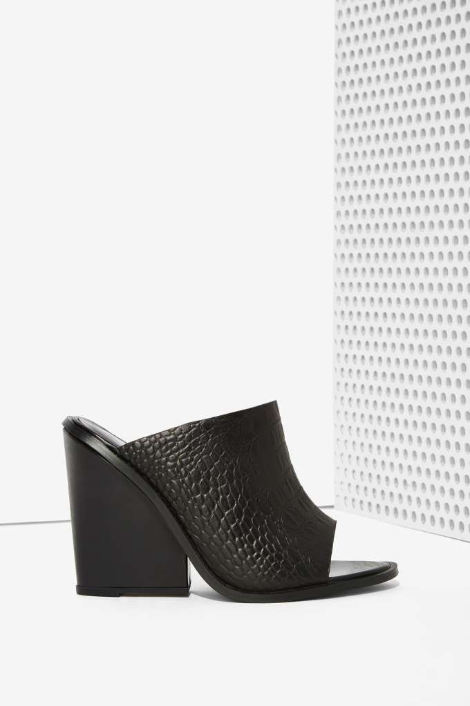 Cameo Collective Exempt Leather Mule - Black - Open Toe | Cameo | Shoes