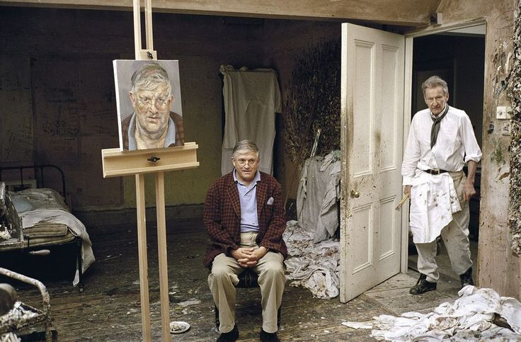 """Lucian Freud and David Hockney"", 2002."