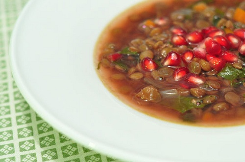 Pomegranate Lentil Soup | Soups | Pinterest