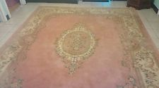 Beautiful Carved Wool Aubusson Oriental Rug