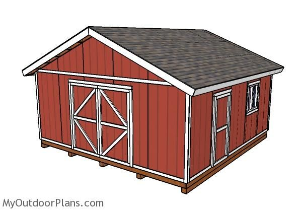 20x20 Shed Plans In 2019 Storage Shed Plans Small Shed