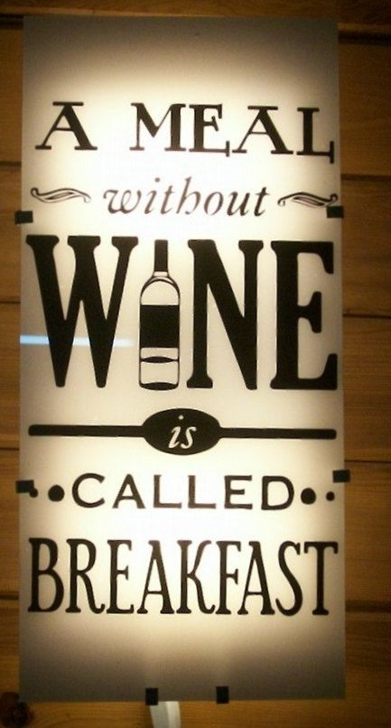 A Meal Without Wine Is Called Breakfast Lighted Sign