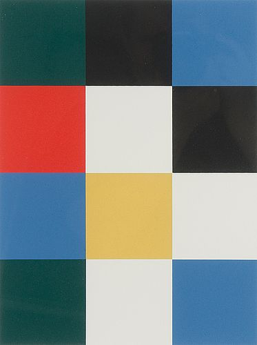 Juhana Blomstedt: Ruutuaihe, 1991, serigrafia, 34x24 cm, edition EA - Bukowskis Market 2016