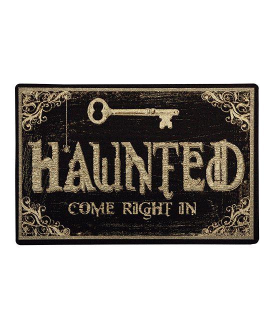 'Haunted' Home Doormat Welcome Mats, Halloween Decor, Halloween Fun, Doormat, Doors Mats, Front Doors, Haunted House Decor, Front Porches, Halloween Signs