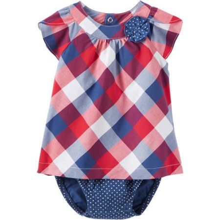 Child Of Mine by Carters Newborn Baby Girl Dress, Size: 3 - 6 Months, Blue