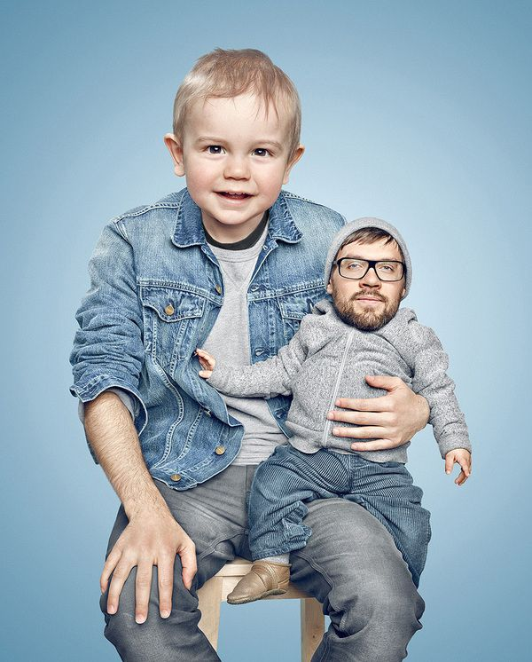13 Inspirational Face-Flipping Family Portraits