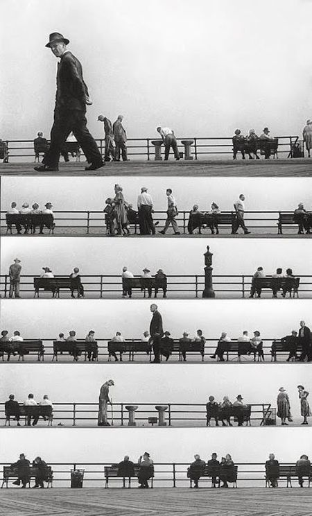 A photographic composition with musical rythm by Harold Feinstein. Via Tout ceci est magnifique. I love it!
