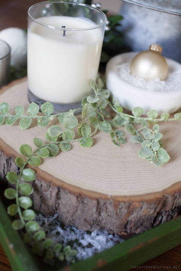 Stump Slice from Michaels | Christmas Decorating Ideas
