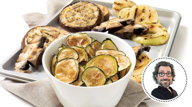 Chips de courgettes et légumes grillés de Christian Bégin