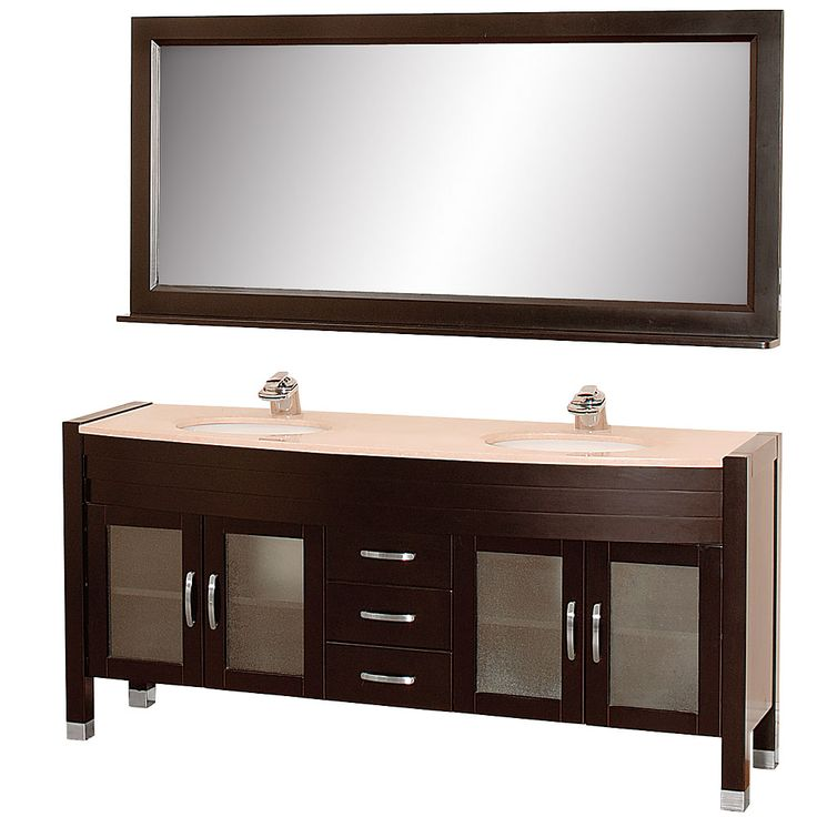 Images Of Wyndham Berkeley inch White Finish Double Sink Bathroom Vanity http