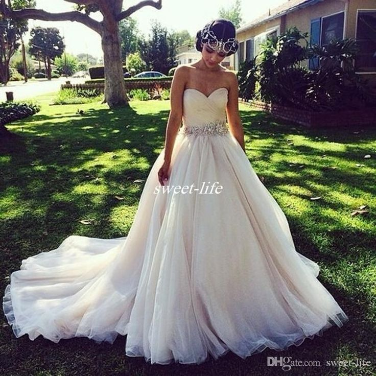 2017 Princess Ball Gown Wedding Dresses with Crystal Belt Ruched Sweetheart V Backless Sexy Country Rustic Bridal Gowns Couture Custom Made Wedding Dresses Cheap Vestidos De Novia Online with 150.0/Piece on Sweet-life's Store | DHgate.com