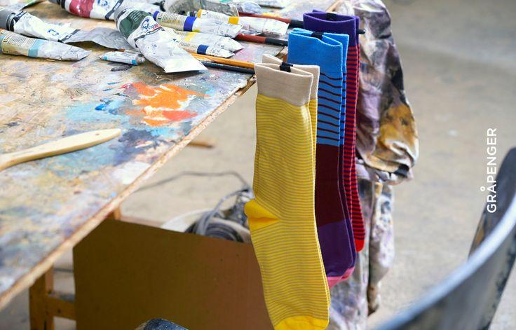 Fåshion Collection | GRÅPENGER #premium #colorful #socks #grapenger #snap #buttons #brushes