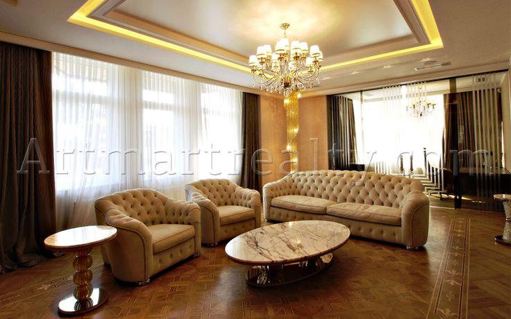 ул. Грушевского, 9а Абсолютно новая эксклюзивная квартира с двумя спальнями, гостиной, кухней, двумя ванными комнатами, гардеробными, кабинетом.
