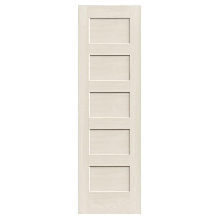 Reliabilt 5 panel solid wood interior slab door lowe 39 s for 8 panel solid wood doors