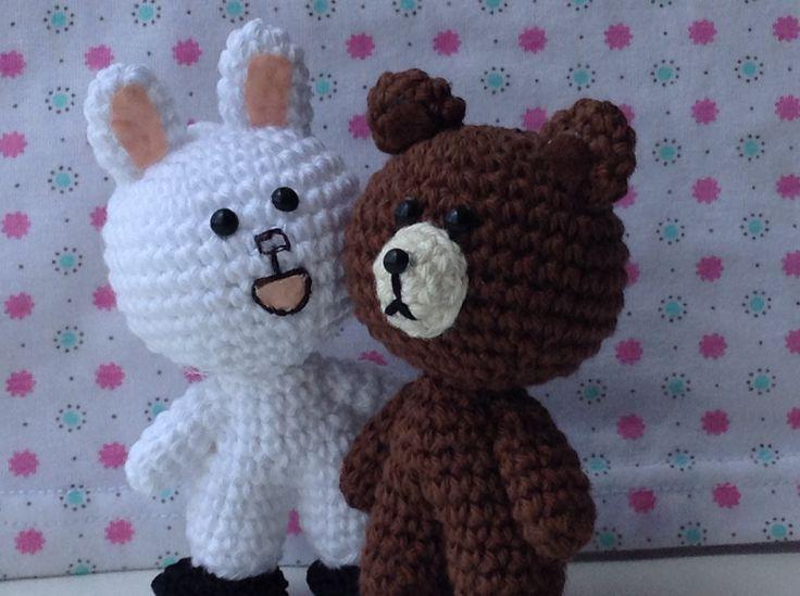 Amigurumi To Go Valentine Bear : Brown & cony #crochet #amigurumi valentines day ...