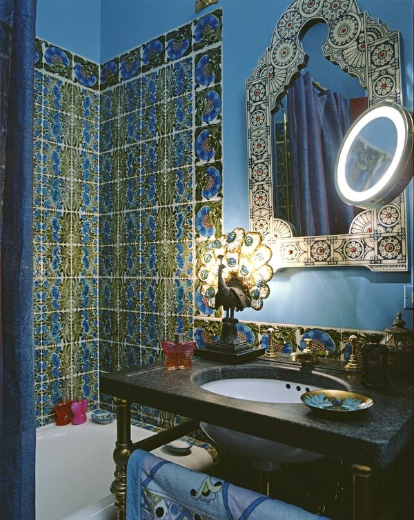 William De Morgan's Pre-Raphaelite Turquoise Thistle Pattern Tiles