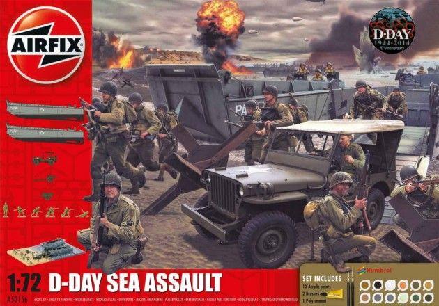 Airfix Gavesett 1/72 D-Day Sea Assault A50156 | Kjøp leker og hobby på nettet! Bilbaner, lego og radiostyrte biler, droner, båter og helikoptre