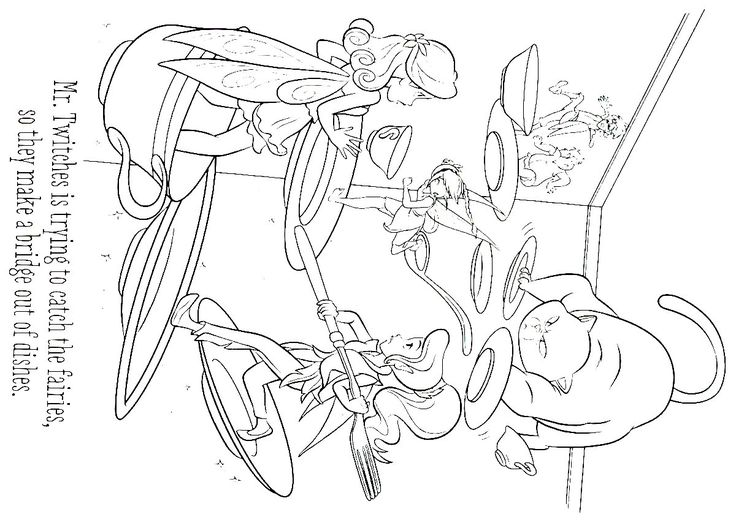 mr twitch and the fairies coloring book page for kids - Fairies Coloring Book