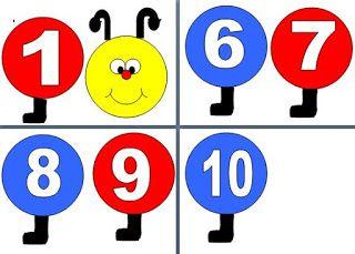 Καρτέλες με τους αριθμούς 1-10 για την πινακίδα της τάξης. Κατάλληλο ιδιαίτερα για την πρώτη τάξη και το νηπιαγωγείο. Πατήστε πάνω στις εικόνες για να μπορέσετε να τις κατεβάσετε σε μορφή pdf.