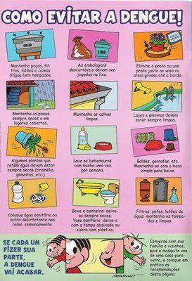 como evitar a dengue da turma da mônica