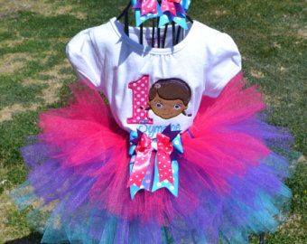 Doc McStuffins Birthday Tutu Outfit Doc by funfashionsetc on Etsy