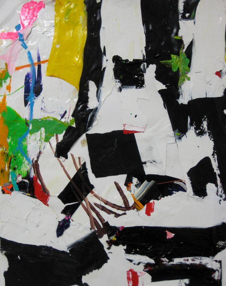 """Saatchi Art Artist: robert tavani; Paint 2013 Collage """"de Kline"""""""