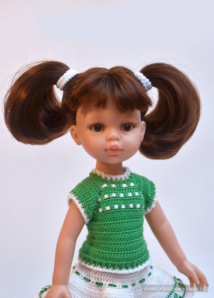 """Описание кофточки из комплекта """"Летняя прогулка"""" для кукол типа Паола Рейна 32 см / Мастер-классы, творческая мастерская: уроки, схемы, выкройки кукол, своими руками / Бэйбики. Куклы фото. Одежда для кукол"""