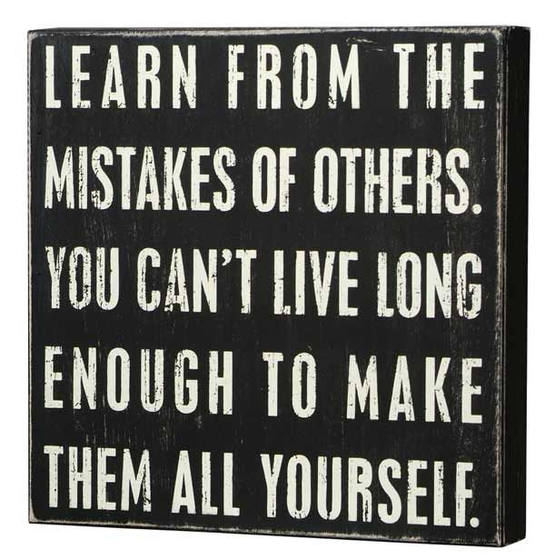 Learning From Others Mistakes - Money We Have