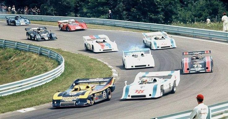 ——-Mark Donohue leads in a 917/30 at the 1973 Watkins Glen Can-Am event. He won both 30 lap heats