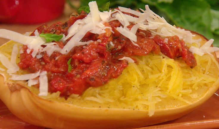 Spaghetti Squash with Roasted Tomatoes and Basil | Rachael Ray Show