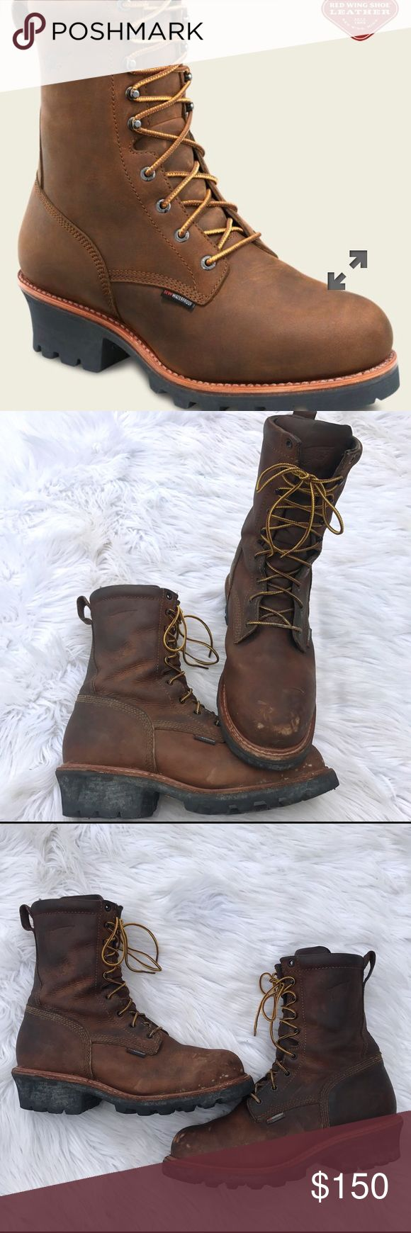 Red Wing - 9in steel toe, water proof, logger 4420 Red Wing 4420 - 9inch steel toe, electrical hazard, waterproof lineman boots. Great very lightly used condition. These boot are amazing. Just broken in and I found a new job and don't need them any longer. Red wings are the best made work boots on the planet. I would say they have 95% of their life in them still. Red Wing Shoes Shoes Boots