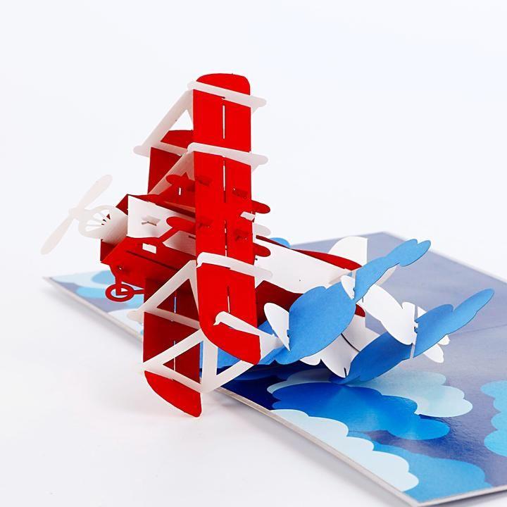 Airplane Adventure 3d Pop Up Card Pop Up Card Templates Pop Up Pop Up Cards