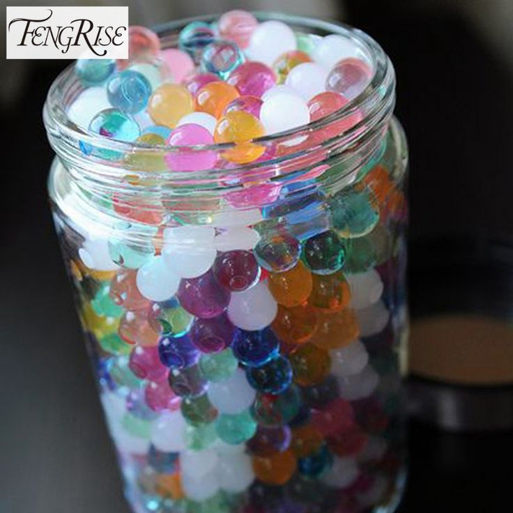2500Ps 5 Packs 2.5mm Mix Color Magic Mud Crystal Soil Water Beads Pearl Growing Jelly Balls Party Events Home Garden Decoration