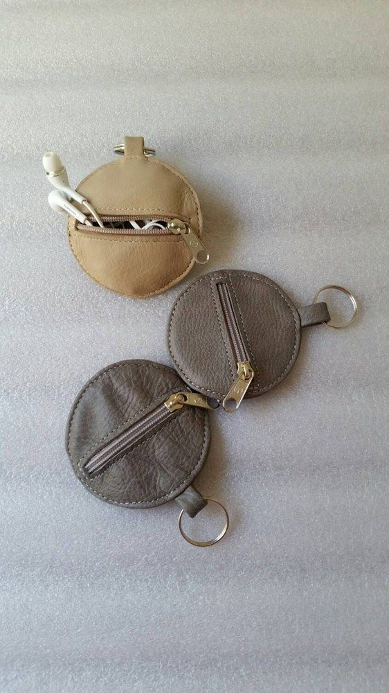 Headphones case / pouch leather bag / coin bag / unique cool keychain / headphones | fgalaze - Bags & Purses on ArtFire