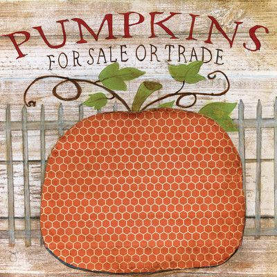 "East Urban Home Pumpkins For Sale by Tava Studios Graphic Art on Wrapped Canvas Size: 26"" H x 26"" W x 0.75"" D"
