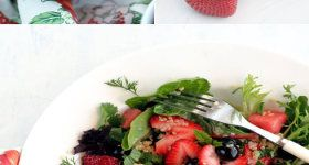 Quinoa Salad Recipe with Blueberries, Strawberries and Watermelon